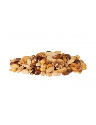 Gemengde noten gebrand met zout