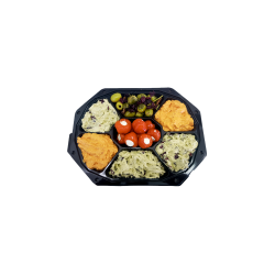 Feestschaal olijven, tapas, noten